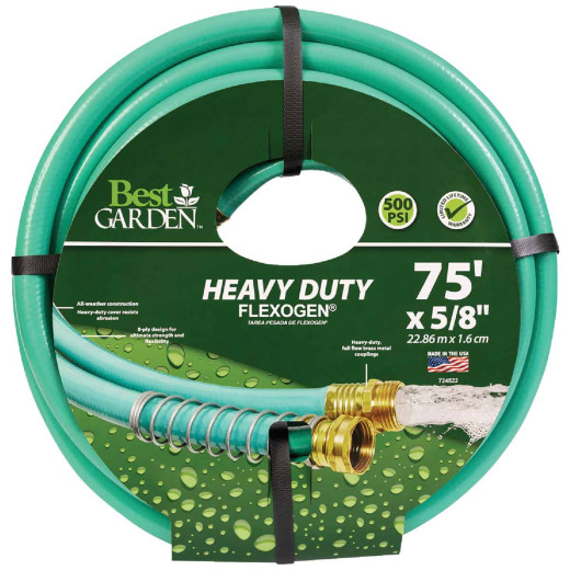 Best Garden Flexogen 5/8 In. Dia. x 75 Ft. L. Garden Hose